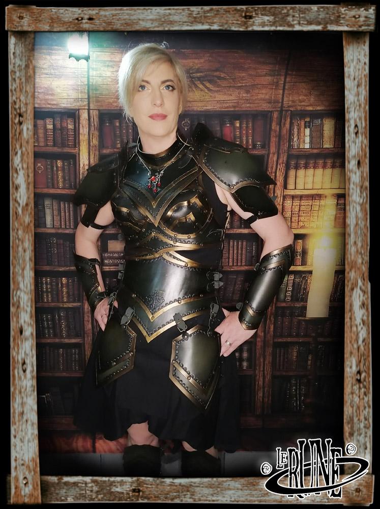 Leather tassets Ashildur