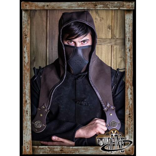 Akku split leather Set - Brown