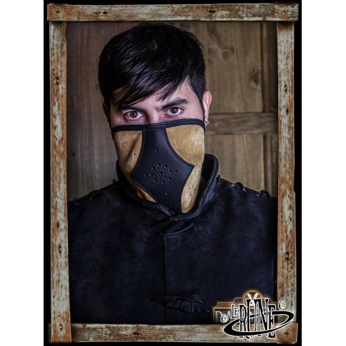 Akku split leather Set - Light Brown