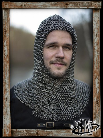 Alaric Chainmail Coif - Natural finish