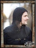 Alaric Chainmail Coif Epic Black