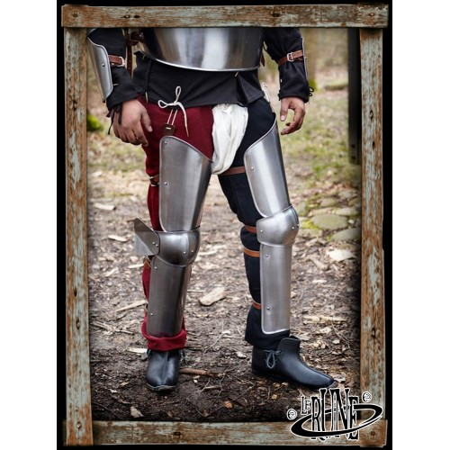 Steel full legs Soldier polished steel
