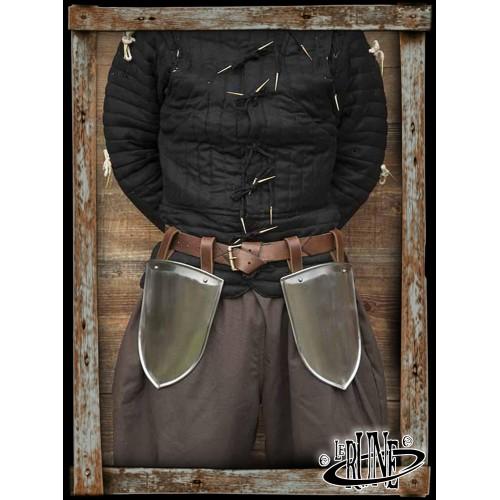 Scout Belt Shields - Polished steel