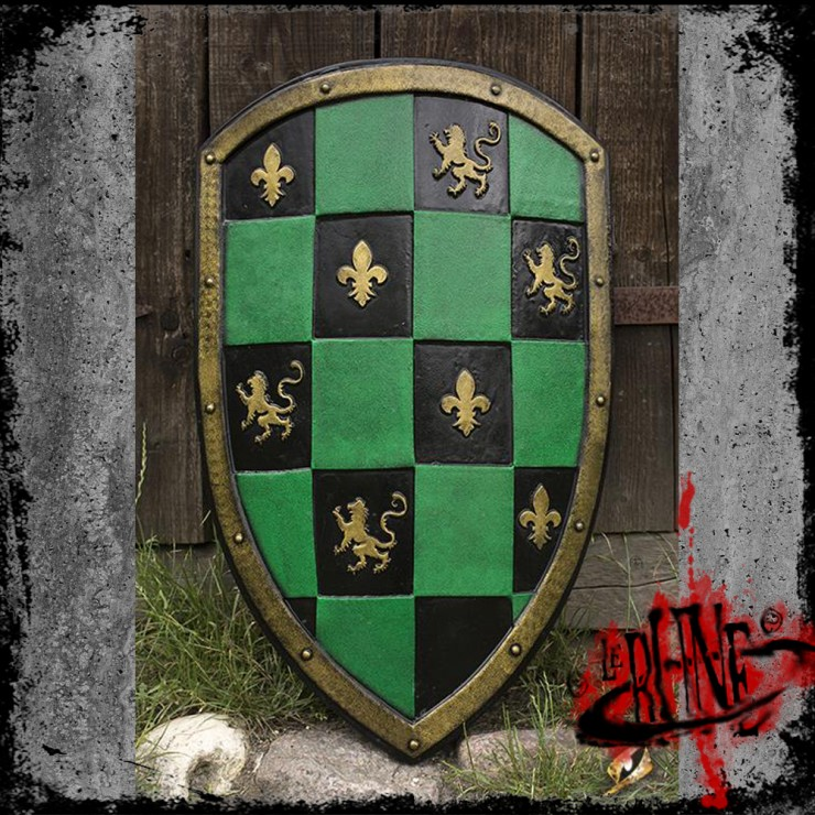 Checkered Shield - Green (80x50 cm)
