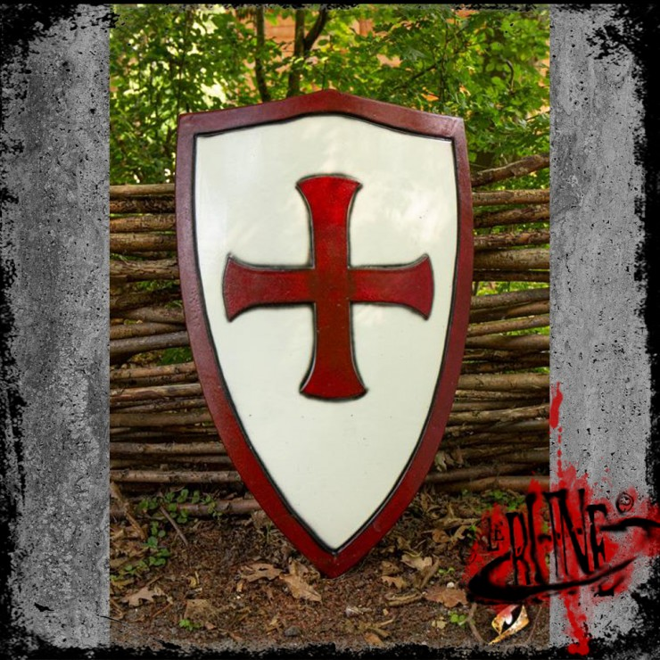 Templar Shield - Red/White - (70x50 cm)