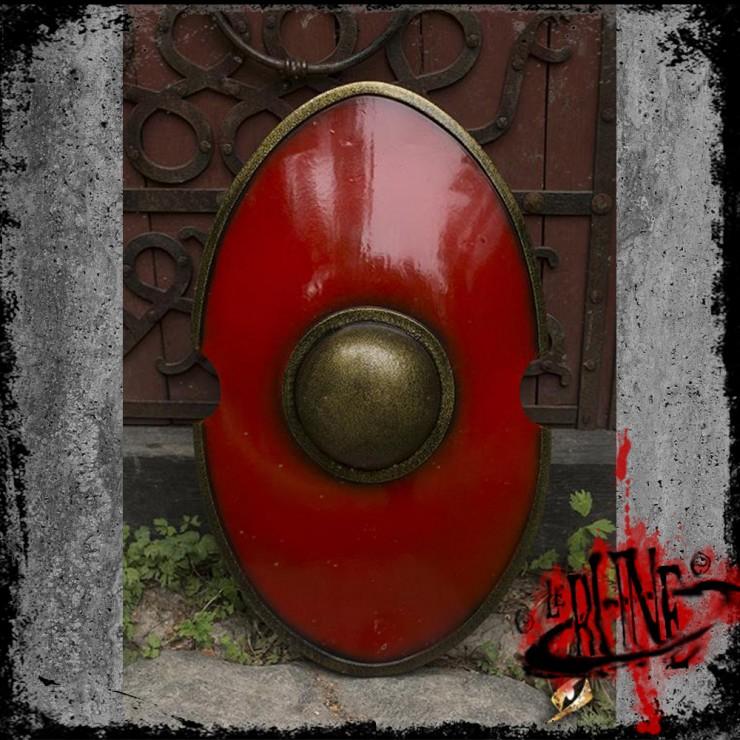Elliptical Shield - Red (70x45)