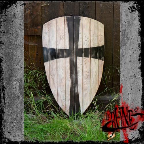 Crusader shield - White/Black (90x60)