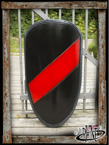 RFB Large shield - Black/Red - 100x60 cm