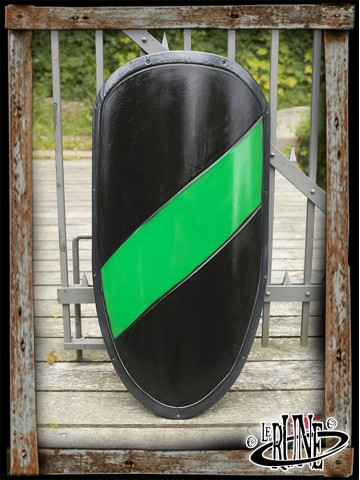 RFB Large shield - Black/Green - 100x60 cm