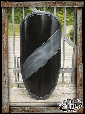 RFB Large shield - Black/Silver - 100x60 cm