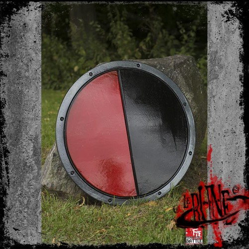 RFB Round Shield - Black/Red - ø50 cm