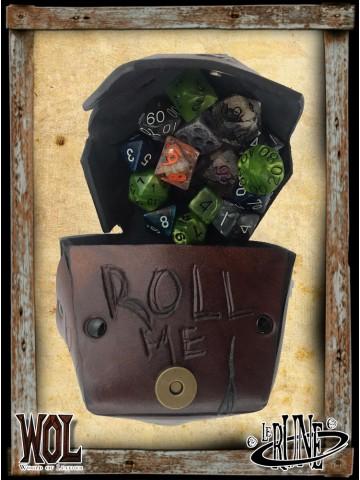 Dice bag of dice - Brown