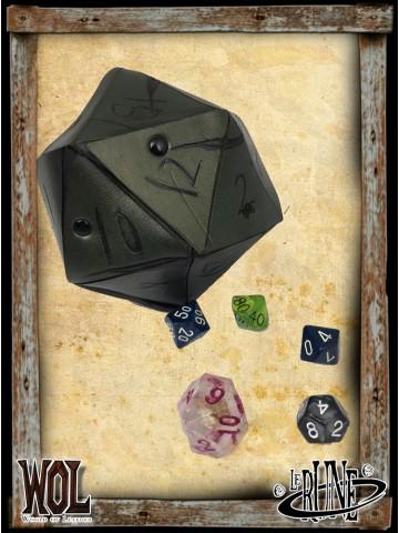 Dice bag of dice - Greem
