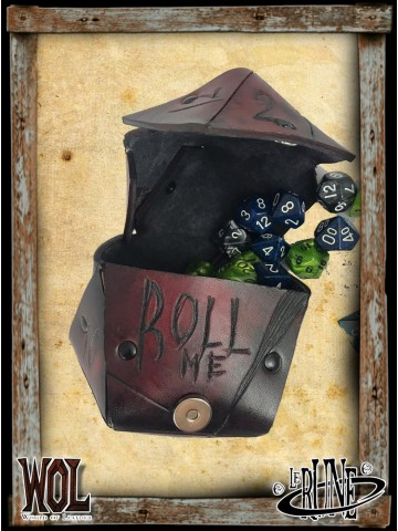 Dice bag of dice - Red