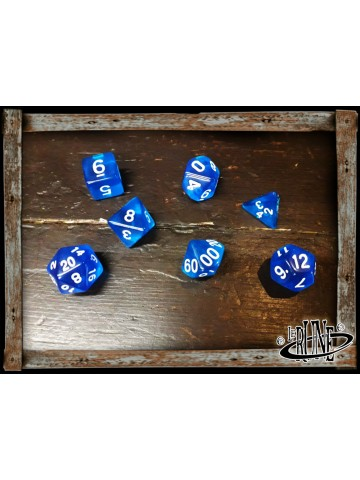Dices set for RPG (7) - Blue Clear