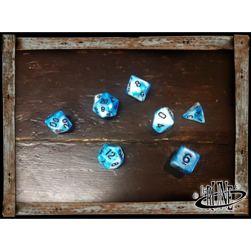 Dices set for RPG (7) - Blue/White Galaxy