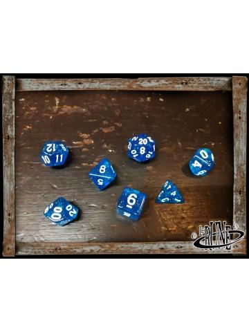 Dices set for RPG (7) - Blue Glitter