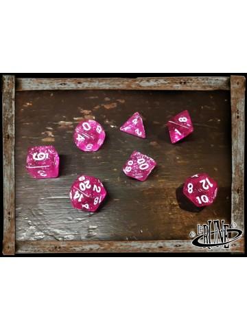 Dices set for RPG (7) - Fuchsia Glitter