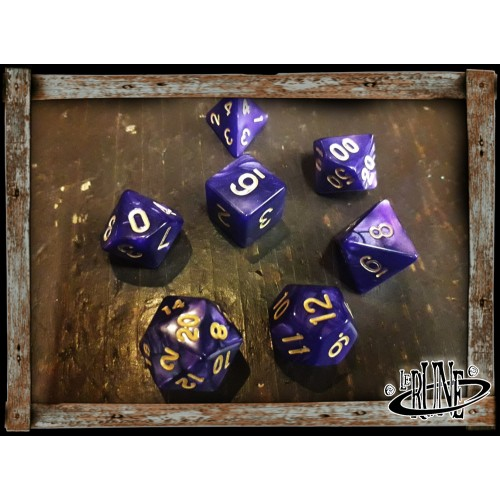 Dices set for RPG (7) - Purple Marble