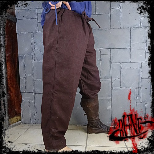 FIRST BLOOD canvas trousers Brown