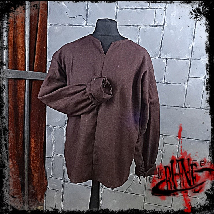 FIRST BLOOD canvas shirt Brown