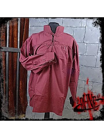 Cotton shirt Tristan Wine Red