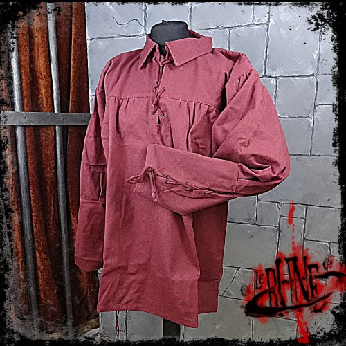 Canvas shirt Leopold Wine Red