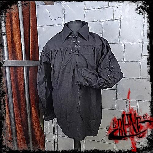 Cotton shirt Elias Black