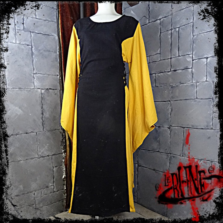 Female dress Demetra Black / Yellow