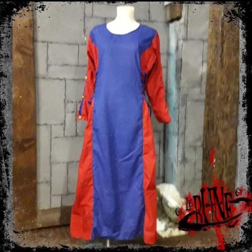 Female dress Lisandra Blue / Red