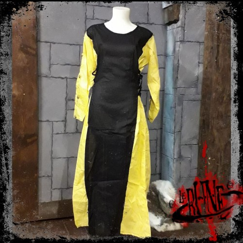 Female dress Lisandra Black / Yellow