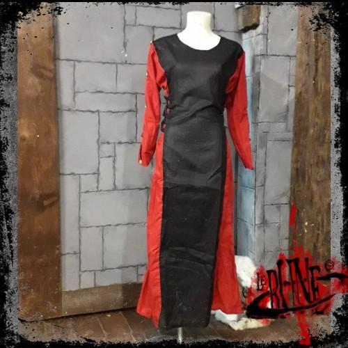 Female dress Lisandra Black / Red