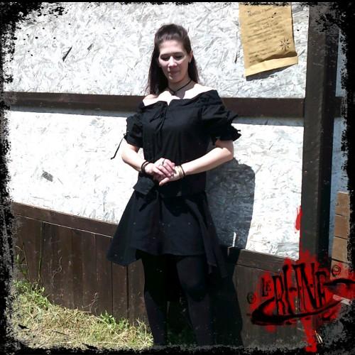 Cotton blouse Julia black