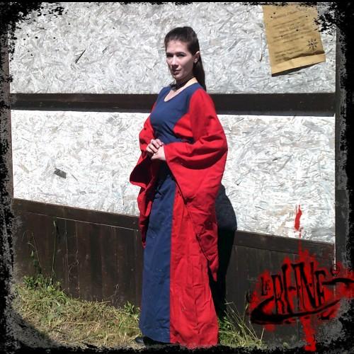Female dress Demetra Blue / Red