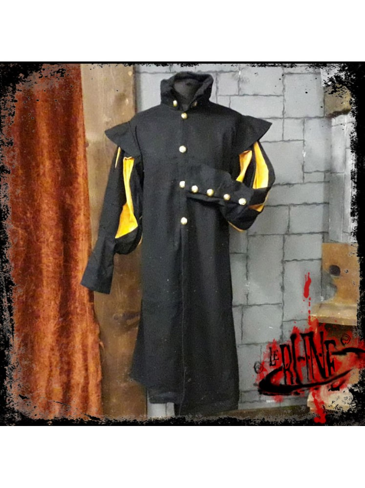 Canvas tunic Prince Black/Yellow (V2)