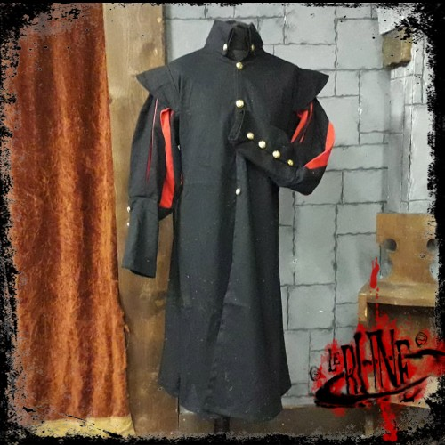 Canvas tunic Prince Black/Red (V2)