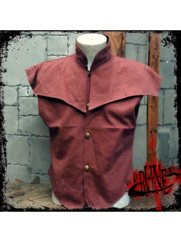 Canvas jacket Pollux wine red
