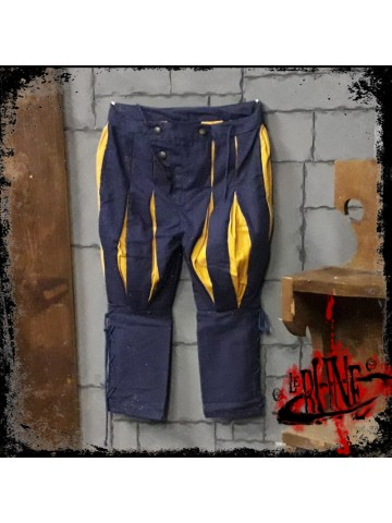 Canvas trousers Olaf Blue/Yellow