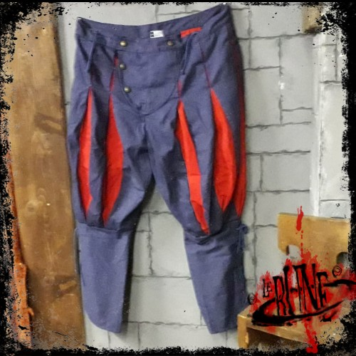 Canvas trousers Olaf Blue/Red