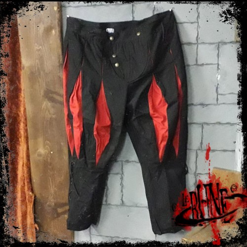 Canvas trousers Olaf Black/Red