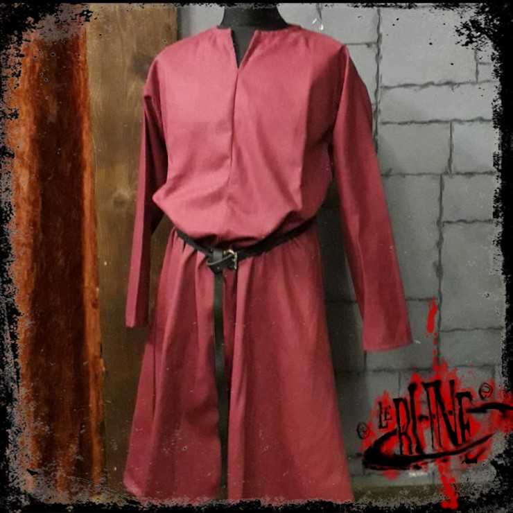 Canvas tunic Hector Wine red