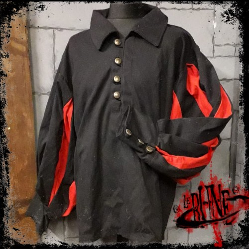 Canvas shirt Olaf  Black/Red