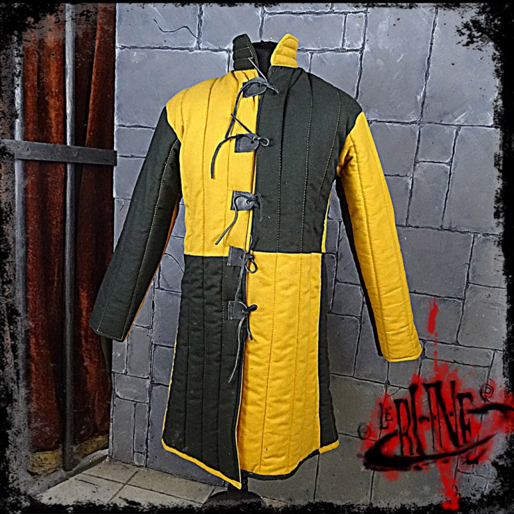Gambeson jacket Olaf Green / Yellow
