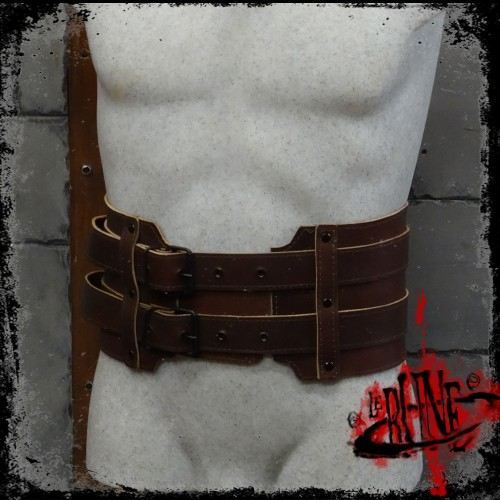 Leather broad belt Gareth