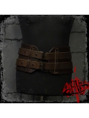 Leather broad belt Gareth (V II)