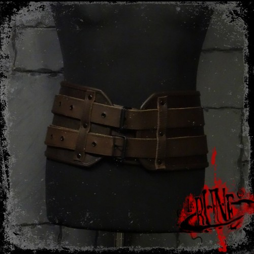 Leather broad belt Gareth (V II)
