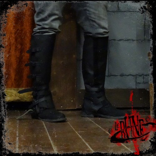 Gaiters in leather Rackham