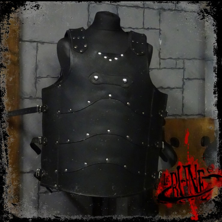 Leather cuirass Roman (XXL)
