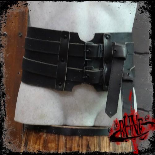 Leather broad belt Gareth