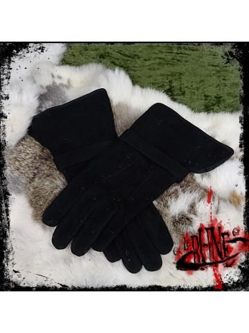 Gloves in suede Gareth black